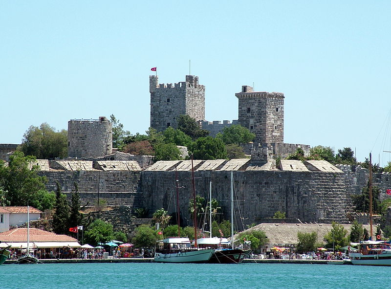 St. Peter's Castle was built by Christians during the height of the Roman Empire and to protect them from persecution during the rise of the Ottoman Empire. Today, it houses shipwrecks excavated in the Aegean Sea. Photo from wikipedia.com.